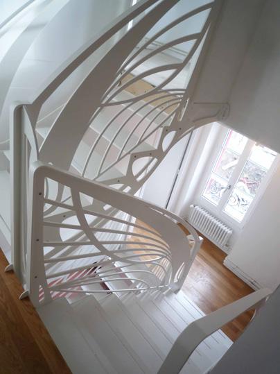 escalier design contemporain style papillon 2016 la stylique paris. Black Bedroom Furniture Sets. Home Design Ideas