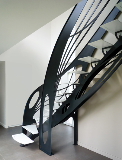 Escalier Design Contemporain D Billard Art Nouveau La Stylique Paris