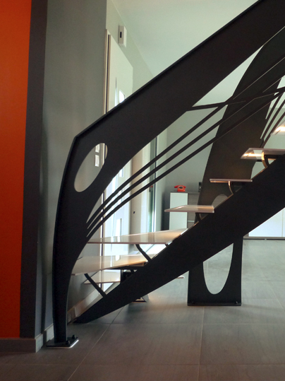Escalier Design Contemporain Art Nouveau - La stylique Paris