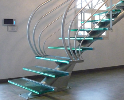 Escalier Design Contemporain Triangle - Design JLuc Chevallier - La stylique Paris